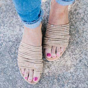 Donald Pliner Frea Cork Sandals